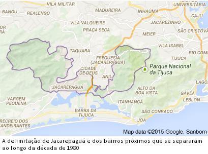 Rio De Janeiro Mapa Bairros.Bairros Cariocas Jacarepagua Um Bairro Que Se Desmembrou